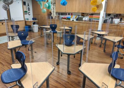 Classroom desks sneeze shield bio-protective barriers for students and teachers
