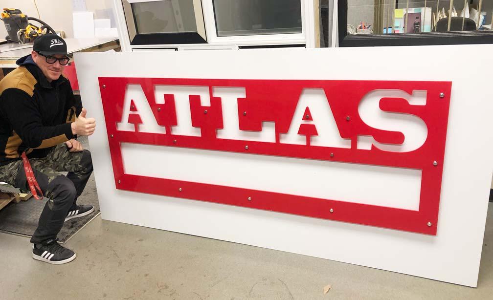 Custom Cut Store Sign